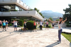Morgentrim i Igalo, Montenegro. Foto: Trine Dahl-Johansen