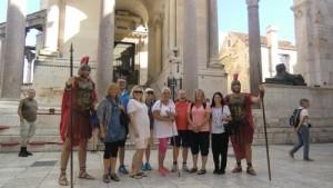 På utflukt til Split med keiserlig revmatisme.