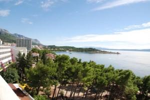 Utsikten fra Biokovka Hotell.