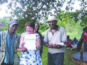 Randi Danielsen på Kilimanjaro