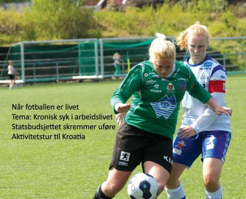 Forside Bekhterever'n 4-14 med fotballspiller utenpå