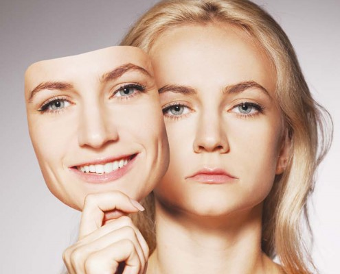 Bekhterever'n førsteside 2-14 med dame med surt og glad ansikt