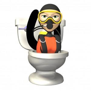 Å gå på offentlige toaletter kan noen ganger være som en ekspedisjon. Foto: Clipart.com