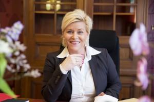 Finansminister Siv Jensen (Frp). Foto: Rune Kongsro
