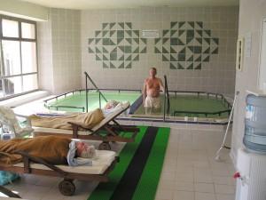 Hver dag badet Helland i svovelbad.