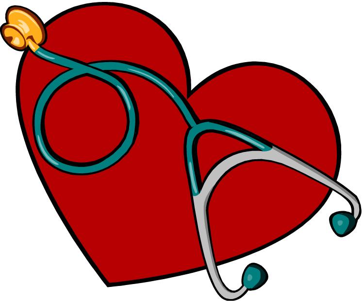 Hjerte med stetoskop