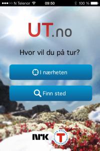 Bilde av appen ut.no