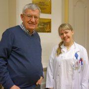 Tore K. Kvien og Guro Løvik Goll er med på å utarbeide forslag til en miniprotokoll for å kunne følge alle pasienter som bytter fra Remicade til Remsima. Foto: Marianne Følling, Diakonhjemmet Sykehus