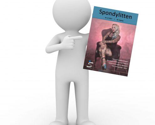 3D figur med forsiden til Spondylitten 2-17
