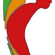 Tegning av en mann som står oppreis og er grønn, litt bøyd og er gul og helt bøyd rød