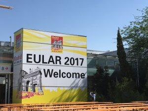 Veklokmstskilt med EULAR-logo