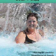 Forside Spondylitten 3-17 med smilende dame i masse vann som spruter