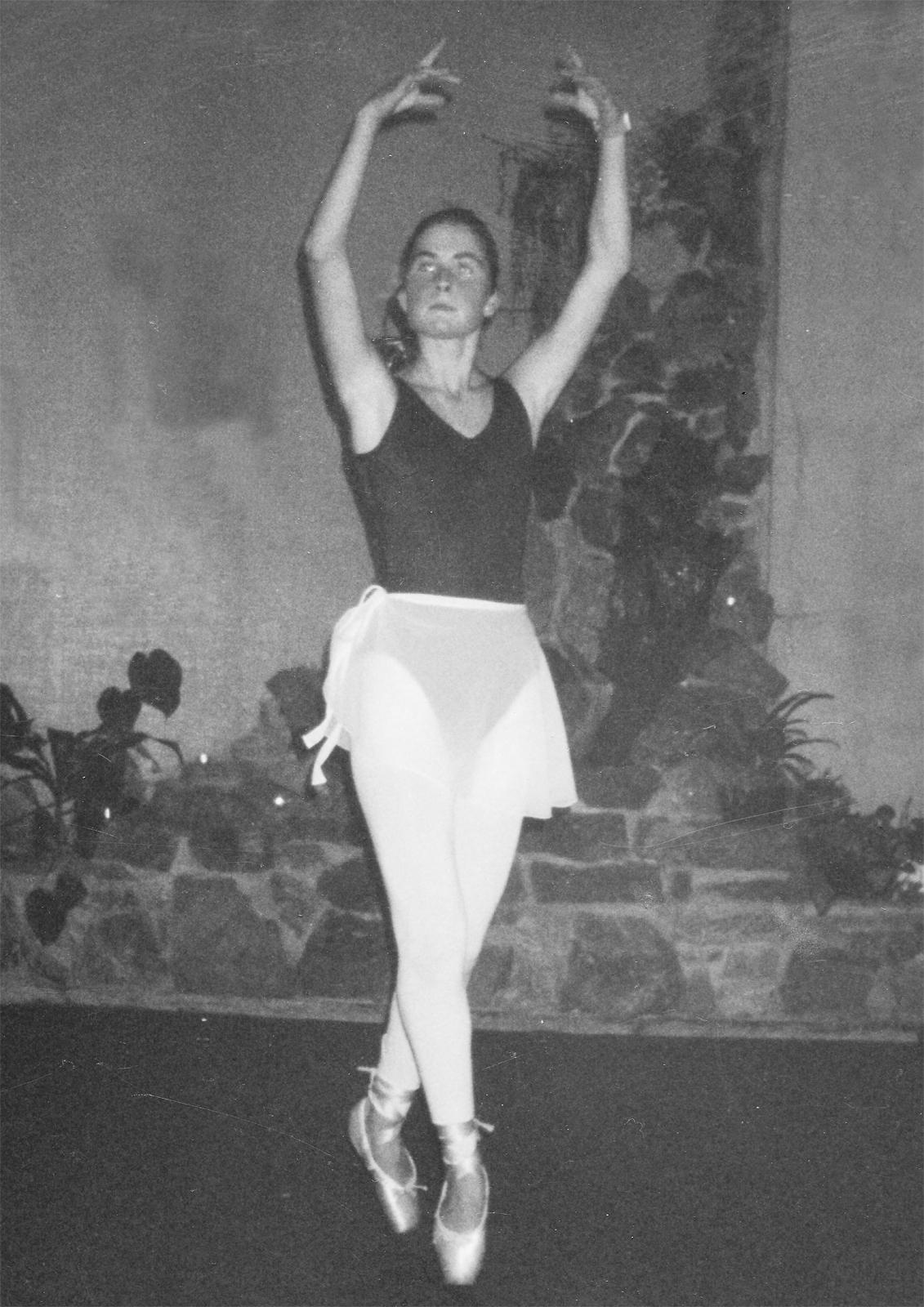 Ballerina på tåspissene