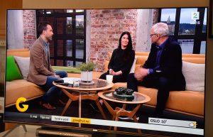 Utsnitt av TV-sending fra God Morgen Norge TV2