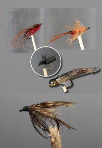 En bildemontasje av ulike fluer