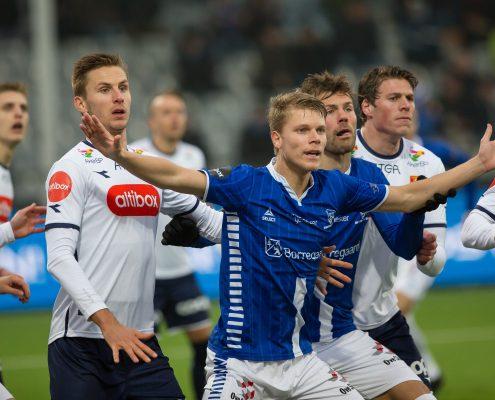 Sigurd Rosted jubler etter å ha scoret mål