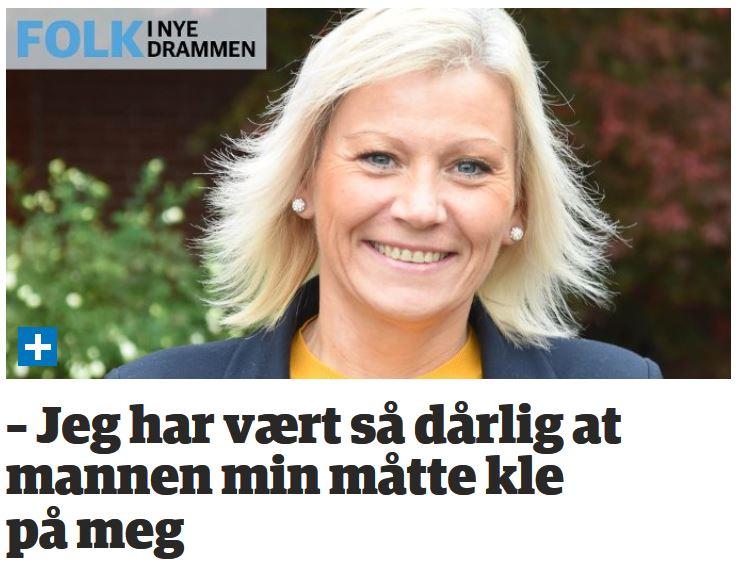 Faksimile med portrettbilde og tittel dt.no