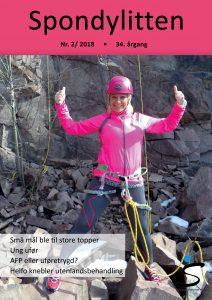 Foriden på Spondylitten 2-18 med dame i rosa rapelleringsutstyr