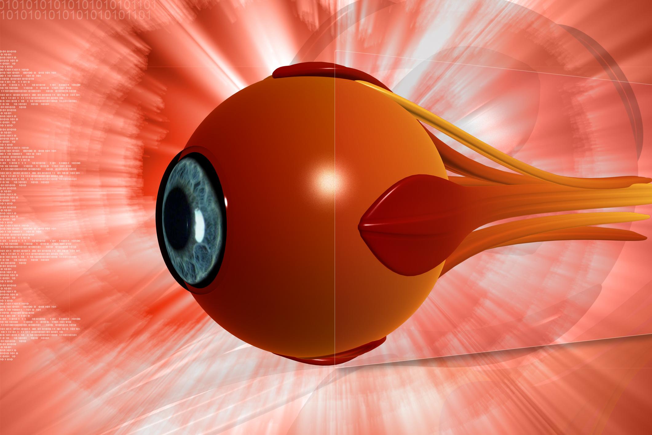 Tegning av rødt øye