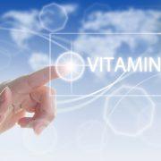 Finger peker på ordet Vitamin D