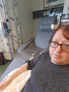 Liv Olaug Slettli får biologisk behandling på sykehuset