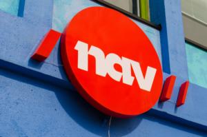 Rød NAV-logo