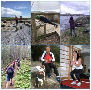 Collage av folk i ulike typer aktivitet