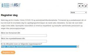 Første registreringsbilde for undersøkelsen