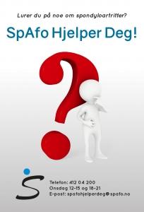 Annonse for Spafo Hjelper Deg