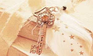 Gammel, dekorativ nøkkel