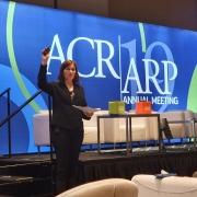 Sara Melita under foredraget på ACR 2019