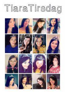 Collage av småbilder med Brith-Tone med tiara