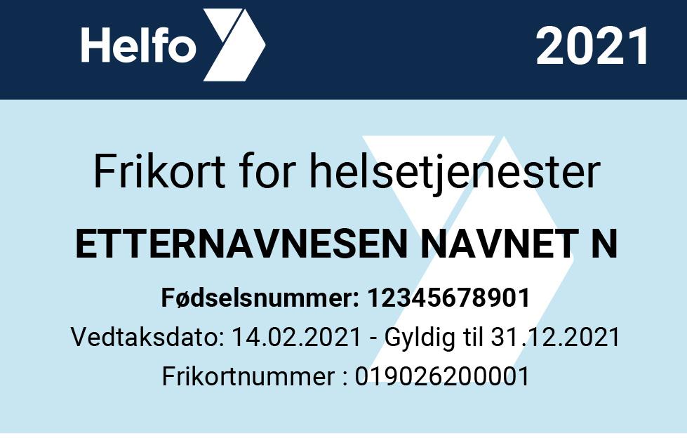 Illustrasjon av nytt felles frikort fra 2021