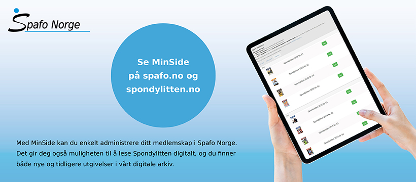 Annonse for Spafo Norges MinSide-løsning